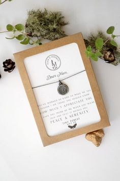 Dear Mom: I Appreciate You - Lavender Herbal Peace & Serenity Necklace | Figs and Ginger