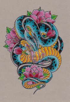 Snake Peony design by Mitsj.deviantart.com on @DeviantArt #artist #colors #design #draw #drawing #original #peony #rose #snake #snakes #snaketattoo #tattoo #tattoodesign #snakedrawing #peonyrose #snakedesign #art #beautiful
