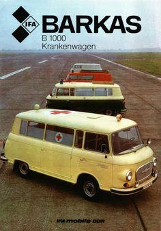 1974 Barkas Krankenwagen (DDR) East German Car, Ddr Brd, Rda, Auto Union, Ad Car, American Motors, East Germany, Car Advertising, Emergency Vehicles