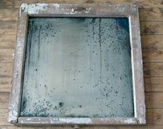 Distressed vintage mirror
