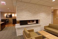 Slot fireplace