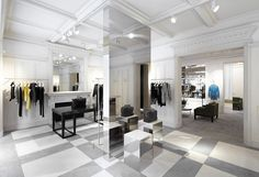 back on top, balmain is in retail expansion mode, and the latest boutique to open is in london town.