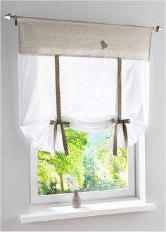 "Tenda a pacchetto ""Ashley"", bpc living Window Cornice Diy, Window Cornices, Window Coverings, Window Treatments, Tie Up Curtains, Curtains With Blinds, Diy Fashion Hacks, Shabby Home, Dream House Interior"