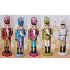 5 Handpainted Wooden Nutcracker Toy Solider Christmas Decoration Ornament for sale online Nutcracker Ornaments, Christmas Ornament Crafts, Nutcracker Christmas, Christmas Decorations, Christmas Ideas, Christmas Tree, Holiday Decor, Nutcracker Soldier, Barbie