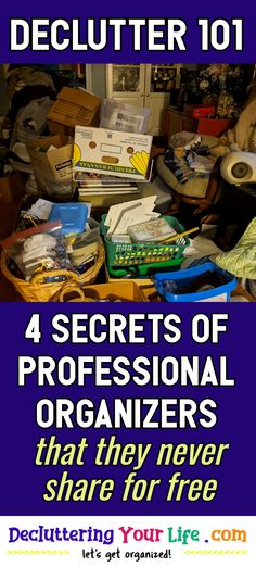 Clutter Control and Storage Solutions from Professional Organizers. How to organize and declutter your home WITHOUT feeling overwhelmed. Tips and tricks to clean clutter piles for our Decluttering Club Monthly Declutter Challenge. Uncluttering your home organization hacks to go from cluttered mess to organized success when getting organized at home. / Declutter 101 / 4 Secrets Of Professional Organizers / that they never share for free Organization Quotes, Clutter Organization, Home Organization Hacks, Organisation Ideas, Organizing Life, Organising, Organizing Ideas, Getting Organized At Home, Getting Rid Of Clutter