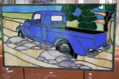 Stained Glass Window Panel - Joy Ride - Truck by Stainedglasslove on Etsy https://www.etsy.com/listing/155189047/stained-glass-window-panel-joy-ride