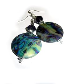 Genuine Mother Of Pearl Abalone Tanzanite by IslandGirl77 on Etsy