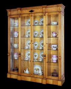 Karelian Birch Display Cabinet. Karelian birch is one of the kinds of wood they would use to make furniture during the 19th century