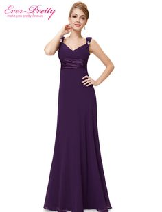 Clearance Sale  Elegant Floor Length Bridesmaid Dresses Ever Pretty 9601  New 2017 Sexy Double V neck Wedding Occasions Dresses-in Bridesmaid Dresses  from ... 54abd81eb6bb