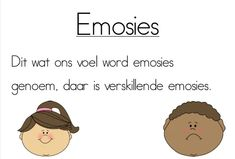 A4 plakkate oor emosies. PDF-formaat. Print en lamineer. Emotional Awareness, Self Regulation, Qoutes, Crafts For Kids, Teacher, Activities, Feelings, Learning, Afrikaans