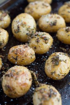 These Duck Fat Roasted Garlic Herb Potatoes are easy to make and have a rich flavor from the rendered Duck Fact, Garlic, and Herbs. I'm in Love with Duck Fat ri