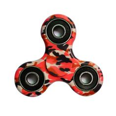 hand spinner motif camouflage rouge