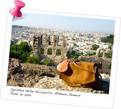 Our BabyMoon Luggage Tag spotted @The Acropolis, Athens, Greece