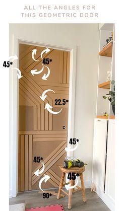 Door Redo, Door Makeover, Diy Door, Diy Interior Doors, Door Design Interior, Diy Home Improvement, Unique Home Decor, Diy Furniture, Foyer