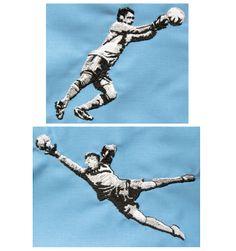 Fußballer Torhüter Stickdateien by Gabrielles Embroidery
