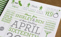 Shirley & Ben Wedding Invitations,