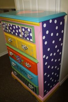 polka dots #painted #furniture
