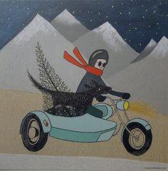 Xmas Cards by Het Paradijs http://www.buitendelijntjesshop.com/a-30296432/het-paradijs/het-paradijs-kerstkaartenset/
