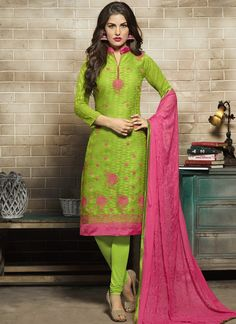 Buy salwar kameez online from an endless collection of latest salwar suit. Shop auspicious embroidered work churidar designer suit for casual and party.
