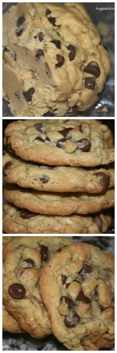Not impressed at all!- EB My Favorite Chocolate Chip Cookies Cookie Desserts, Just Desserts, Cookie Recipes, Delicious Desserts, Dessert Recipes, Yummy Food, Yummy Cookies, Yummy Treats, Sweet Treats