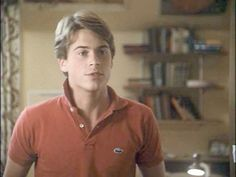 80's Preppy. Rob Lowe - Lacoste + popped collar 1983.