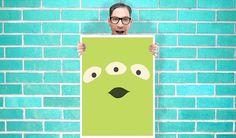 Toy Story Alien Art  Wall Art Print Poster 16x23 by geeksleeksheek, $17.00