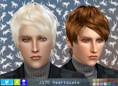 Sims 4 CC's - The Best: Newsea Hairstyle J170 Heartquake Sims 4