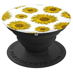 Yellow Scattered Sunflowers Floral - PopSockets Grip The flowery Yellow Scattered Sunflowers PopSocket Grip features a digitally enhanced botanical photograph of a yellow garden sunflower blossom with a white background. It makes a unique little gift idea for a flower lover, gardener or florist. Collapsible grip provides a secure hold for easier texting, calling, photos, and selfies. #popsockets #sunflowers #cellphoneaccessories #cellphoneholders Diy Gifts, Best Gifts, Handmade Gifts, Diy Pop Socket, Pop Sockets Iphone, Sunflower Gifts, Farewell Gifts, Florists, Group Photos