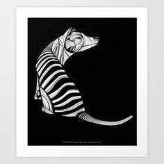 Thylacine (Tasmanian Tiger) Art Print by Dchristo - $17.68