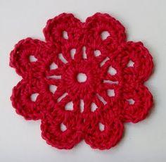 crochet flower uk instructions