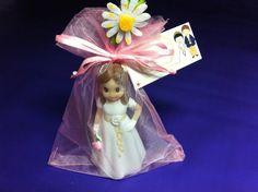 Porta tarjetas figura niña primera comunion