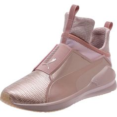 Puma Fierce Metallic Women's Training Shoes (395 RON) ❤ liked on Polyvore featuring shoes, athletic shoes, rose gold, slip on athletic shoes, sport shoes, puma athletic shoes, puma shoes and pointy shoes