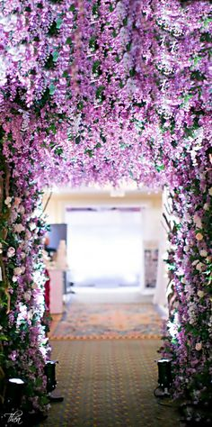 Wedding/ Floral Arch/ entrance/ Lavender <3