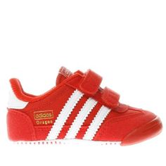 #Adidas red dragon boys baby #Start their sneaker obsession early with possibly the cutest adidas trainer weve ever seen. Dressed in stand-out red, the Dragon features a mesh upper with stylish suede overlays while a protective toe cap keeps new walkers safe on their adventures. UPPER: Fabric and suede, LINING: Fabric, OUTSOLE: Fabric, TECH FEATURE: Anti-slip grip Material : Fabric, Colour : red, Product Code : 5104383070 (Barcode EAN=5054458065918)