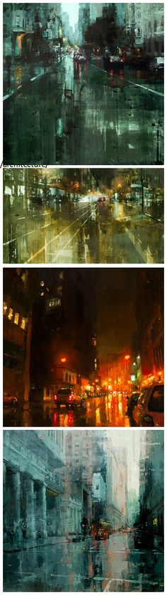 oil cityscapes by jeremy mann