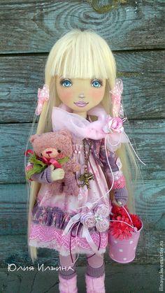 Коллекционные куклы ручной работы. Алиса. Юлия Ильина. Интернет-магазин Ярмарка Мастеров. Кукла ручной работы, хлопок 100%