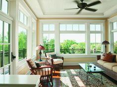 Andersen windows and doors - traditional - windows - indianapolis - Clevernest, Inc. Sunroom Windows, Casement Windows, Living Room Windows, House Windows, Windows And Doors, Pella Windows, Wood Windows, Wall Of Windows, Windows