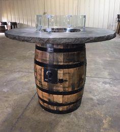 Full whiskey Barrel Firepit   Etsy Diy Propane Fire Pit, Whiskey Barrel Furniture, Bourbon Barrel, Fire Glass, Outdoor Fire, Distillery, Diy Furniture, Cigar Club, Pilots