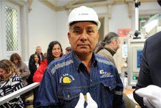 Alfredo Gonzales, kolumbiský horník z Iquiry, která poskytnula zlato pro dnešní ražbu. Autor fotografií François Tancré /Představení první mince z certifikovaného zlata v pařížské mincovně/ 14.5.2018