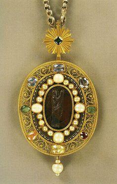 Панагия. Богоматерь в молении.1787 г.