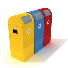 Have you been looking for recycle bins that could help you maintain the tidiness and orderliness in your area? These receptacles right here are the ones to end your search. They are manufactured using sheet metal. Each set could hold up to 189 liters of trash. Now, you could just sit back and relax while watching how adept these bins are in what they do.