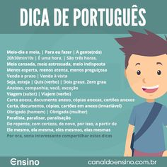 + Acesse: www.canaldoensino.com.br #Educacao #CanaldoEnsino Learn Portuguese, Lp, Knowledge, English, Learning, School, Reading Activities, Study Tips, How To Study