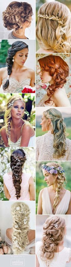 Braided Wedding Hair Ideas You Will Love ❤ From soft waves to gorgeous wedding updos and ponytails, brides have so many hairstyles to consider. See our gallery for more inspiration: http://www.weddingforward.com/braided-wedding-hair/ #weddings #hairstyles More