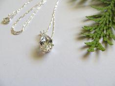 White Topaz Necklace Sterling Silver Necklace Semi Precious