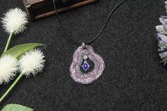 Polymer clay fantasy necklace fantasy fairy jewelry purple