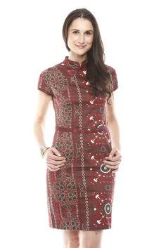Print Dress with Belt.