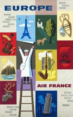 Air France - by Jean Carlu