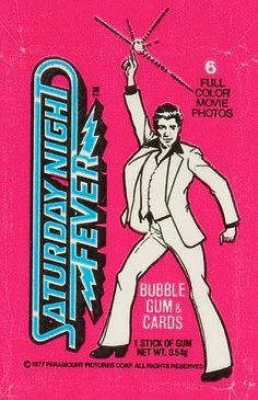 Saturday Night Fever,  1977 Trading Cards  Bubble Gum
