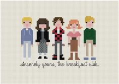 The Breakfast Club Pixelated