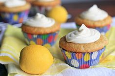 Lemon cupcakes filled with a dollop of sweet and tart lemon curd!